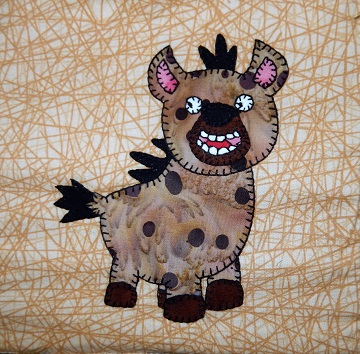 Hyena Applique by Ms P Designs USA