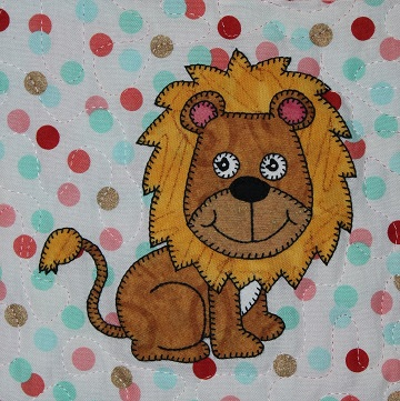 Lion Applique by Ms P Designs USA
