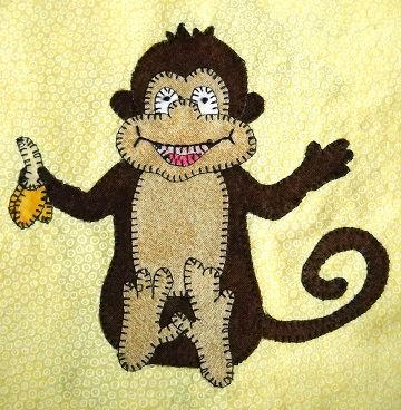 Monkey Applique by Ms P Designs USA