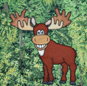 Moose Applique by Ms P Designs USA