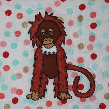 Orangutan Applique by Ms P Designs USA