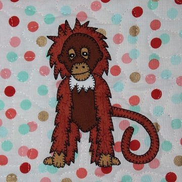 Orangutan Applique by Ms P Designs USA