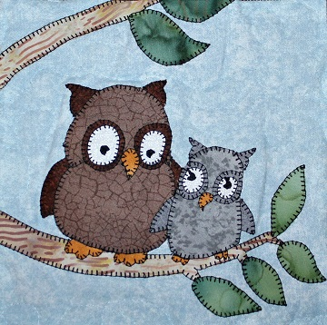 Owls Applique by Ms P Designs USA