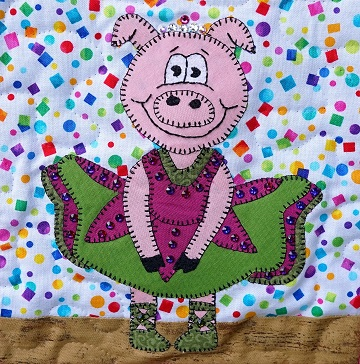Pig Ballerina by Ms P Designs USA