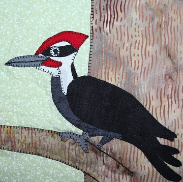 Pilleated Woodpecker Applique by Ms P Designs USA
