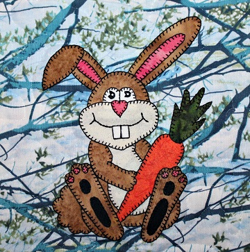 Rabbit Applique by Ms P Designs USA