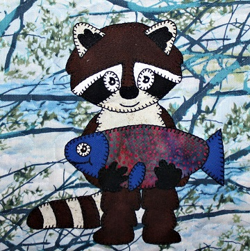 Raccoon Applique by Ms P Designs USA