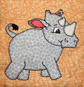 Rhinoceros Applique by Ms P Designs USA