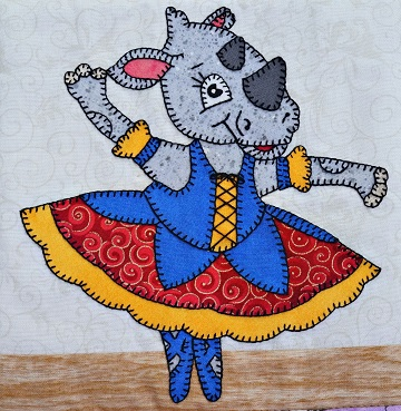 Rhinoceros Ballerina by Ms P Designs USA