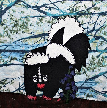 Skunk Applique by Ms P Designs USA