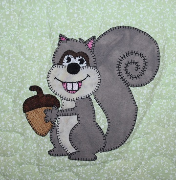 Squirrel Applique by Ms P Designs USA