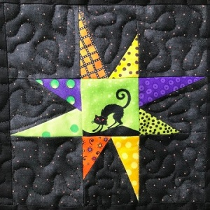 Wonky Star Pieced Block B by Ms P Designs USA