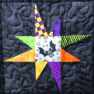 Wonky Star Pieced Block C by Ms P Designs USA