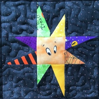 Wonky Star Pieced Block A by Ms P Designs USA