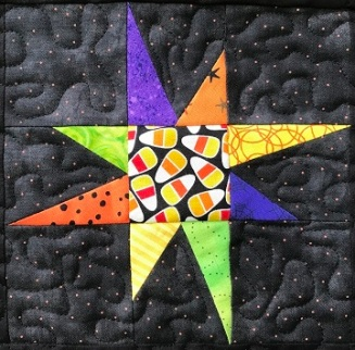 Wonky Star Pieced Block D by Ms P Designs USA