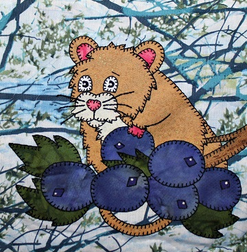 Wood Mouse Applique by Ms P Designs USA