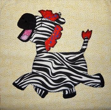 Zebra Applique by Ms P Designs USA