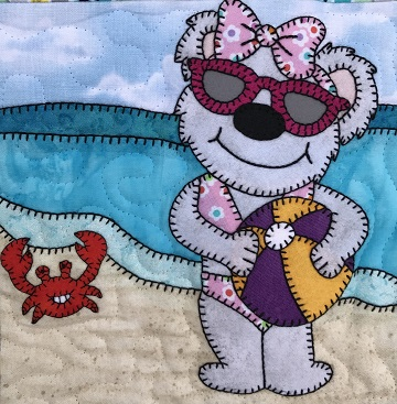 Beach Ball Bear by Ms P Designs USA