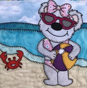 Beach Ball Bear by Ms P Designs USA