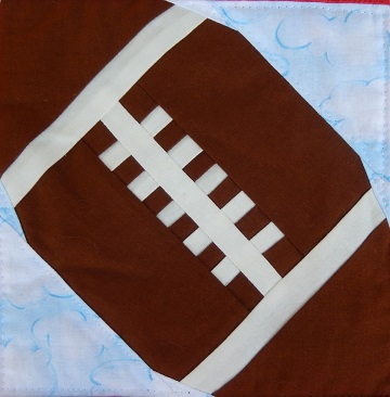 Football Foundation Paper Pieced Block by Ms P Designs USA