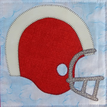 Football Helmet Applique by Ms P Designs USA