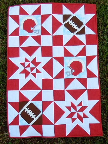Football SuperStars Quilt by Ms P Designs USA