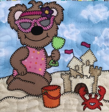 Sand Castle Bear by Ms P Designs USA