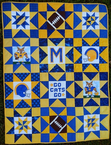 Sharon's Football SuperStars Quilt