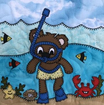 Snorkel Bear by Ms P Designs USA