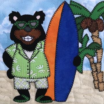 Surf Board Papa Bear by Ms P Designs USA