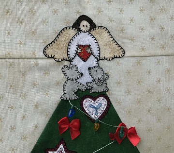 Under the Christmas Tree Angel Topper by Ms P Designs USA