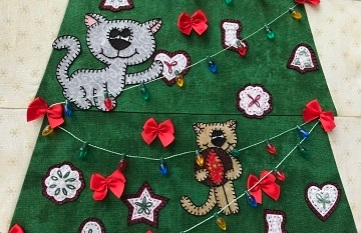 Under the Christmas Tree Kittens by Ms P Designs USA