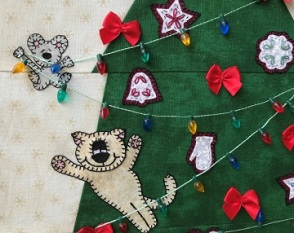 Under the Christmas Tree Mouse and Kitten by Ms P Designs USA