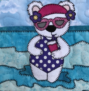 Wading Bear by Ms P Designs USA