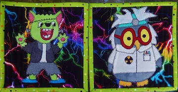 Frankenstein's Monster and the Mad Scientist by Ms P Designs USA