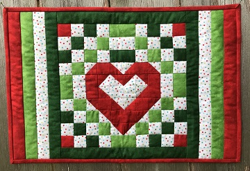 Christmas Hearts Place Mats by Ms P Designs USA