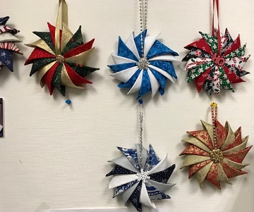 Folded Star Ornaments A by Ms P and Friends
