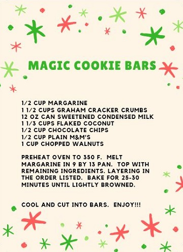 Magic Cookie Bars Recipe from Ms P Designs USA
