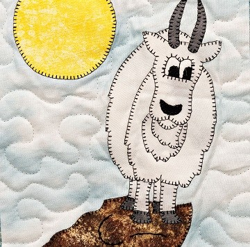 Mountain Goat by Ms P Designs USA