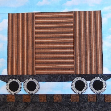 Box Car Paper Pieced Pattern by Ms P Designs USA