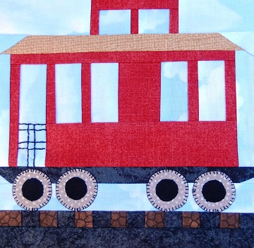 Caboose Car Paper Pieced Pattern by Ms P Designs USA