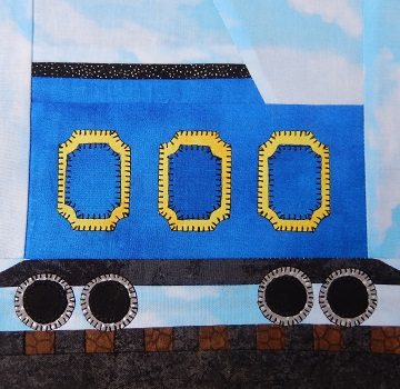 Coal Tender Car Paper Pieced Pattern by Ms P Designs USA