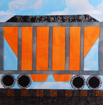 Coal Hopper Car Paper Pieced Pattern by Ms P Designs USA