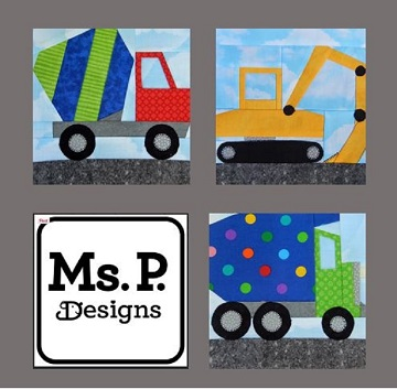 Construction Equipment Pattern Bundle by Ms P Designs USA