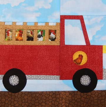 Farm Truck Paper Pieced Block by Ms P Designs USA