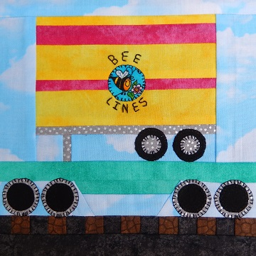 Flat Car with Trailer Paper Pieced Pattern by Ms P Designs USA
