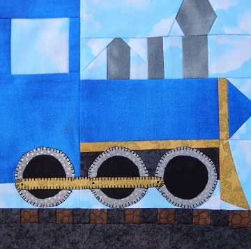 Steam Engine Car Paper Pieced Pattern by Ms P Designs USA