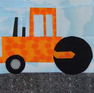 Steamroller Paper Pieced Block by Ms P Designs USA
