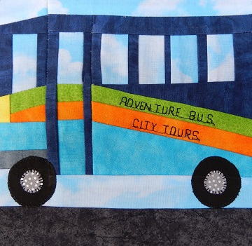 City Bus Paper Pieced Block by Ms P Designs USA