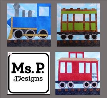 Train Car Pattern Bundle by Ms P Designs USA